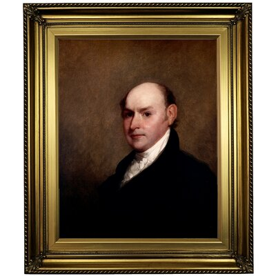 'John Quincy Adams 1818' Framed Oil Painting Print on Canvas Format: Gold Framed, Size: 26