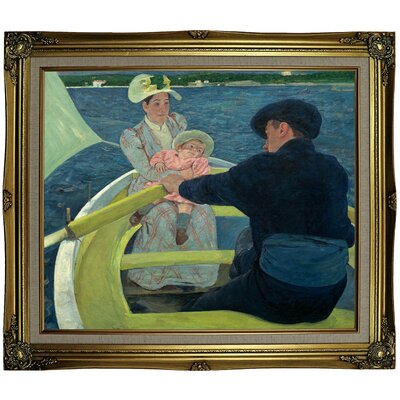 'The Boating Party' by Mary Cassatt Framed Oil Painting Print on Canvas Format: Black Gold Framed, Size: 25.25