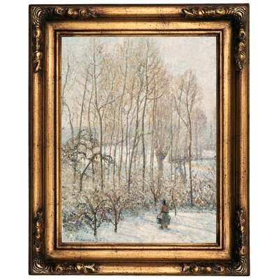 'Morning Sunlight on the Snow; Eragny-sur-Epte' by Camille Pissarro Framed Oil Painting Print on Canvas Format: Old Gold Framed, Size: 20.5