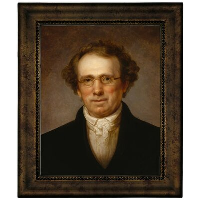 'Portrait of Henry Robinson 1814' Framed Oil Painting Print on Canvas Format: Dark Gold Framed, Size: 12.75