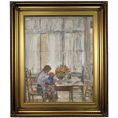 'The Children' Framed Oil Painting Print on Canvas Format: Light Gold Framed, Size: 26