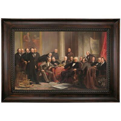 'Men of Progress 1862' Framed Oil Painting Print on Canvas Format: Dark Brown Framed, Size: 26