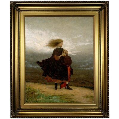 'The Girl I Left Behind Me 1870' Framed Oil Painting Print on Canvas Format: Light Gold Framed, Size: 26