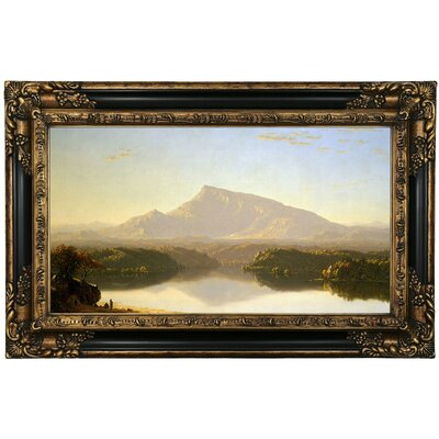 'Wilderness 1860' Framed Oil Painting Print on Canvas Format: Black/Gold Framed, Size: 17.25