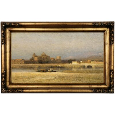 'On the Viga; Outskirts of the City of Mexico 1892' Framed Oil Painting Print on Canvas Format: Antique Gold Framed, Size: 16.5