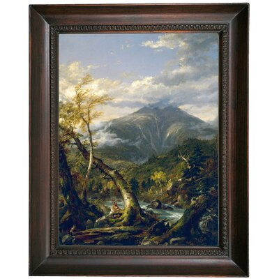 'Indian Pass 1847' Framed Oil Painting Print on Canvas Format: Dark Gray Framed, Size: 19.5