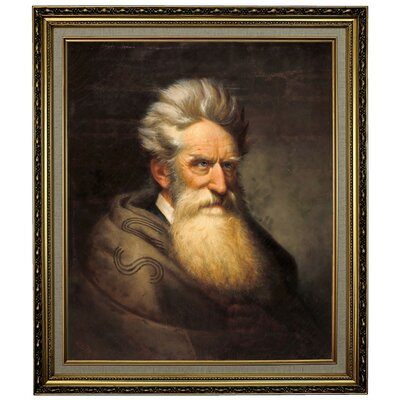 'John Brown 1872' Framed Oil Painting Print on Canvas Format: Light Gold Framed, Size: 28.15