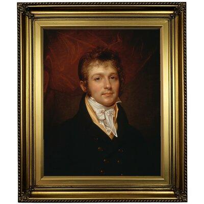 'Portrait of Edward Shippen Burd of Philadelphia 1806' Framed Oil Painting Print on Canvas Format: Light Gold Framed, Size: 26