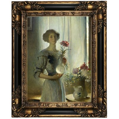 'Portrait of June 1911' Framed Oil Painting Print on Canvas Format: Peru Framed, Size: 21.25