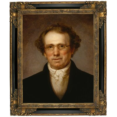 'Portrait of Henry Robinson 1814' Framed Oil Painting Print on Canvas Format: Black/Gold Framed, Size: 25.25