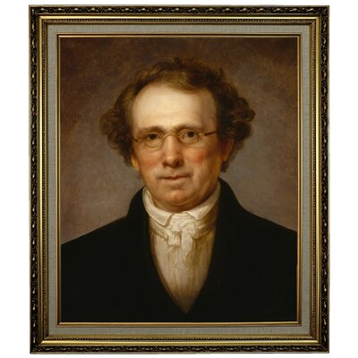 'Portrait of Henry Robinson 1814' Framed Oil Painting Print on Canvas Format: Yellow Framed, Size: 28.15