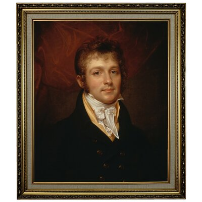 'Portrait of Edward Shippen Burd of Philadelphia 1806' Framed Oil Painting Print on Canvas Format: Yellow Framed, Size: 28.15
