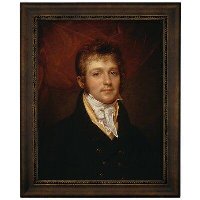 'Portrait of Edward Shippen Burd of Philadelphia 1806' Framed Oil Painting Print on Canvas Format: Dark Brown Framed, Size: 16.75