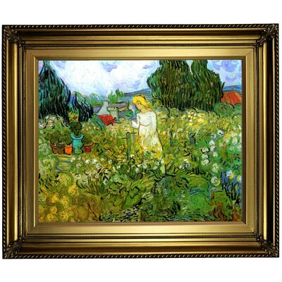 'Marguerite Gachet in the Garden' by Vincent van Gogh Framed Oil Painting Print on Canvas Format: Gold Framed, Size: 22