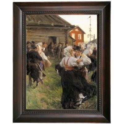 'Midsummer Dance 1897' Framed Oil Painting Print on Canvas Format: Dark Gray Framed, Size: 19.5