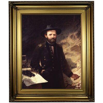 'Portrait of Ulysses S. Grant 1865' Framed Oil Painting Print on Canvas Format: Light Gold Framed, Size: 26