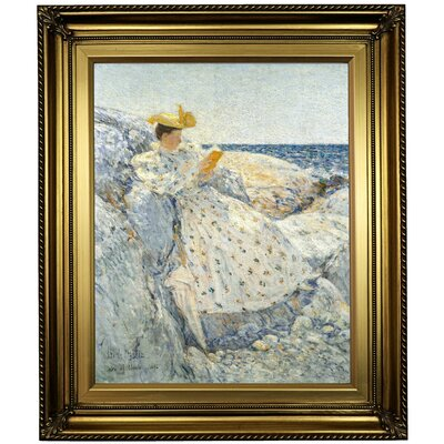 'Summer Sunlight (Isles of Shoals) 1892' Framed Oil Painting Print on Canvas Format: Light Gold Framed, Size: 26