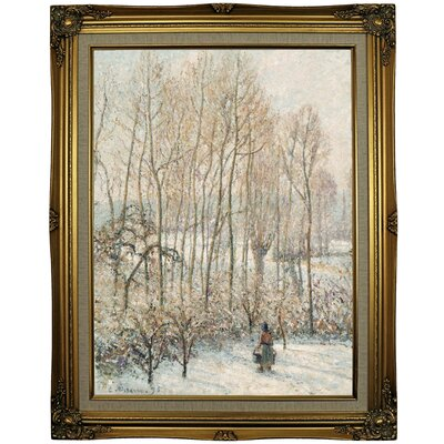 'Morning Sunlight on the Snow; Eragny-sur-Epte' by Camille Pissarro Framed Oil Painting Print on Canvas Format: Gold Framed, Size: 29.25