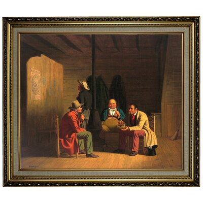 'Country Politician 1849' Framed Oil Painting Print on Canvas Format: Black/Gold Framed, Size: 16.5'' H x 19.5'' W x 2'' D