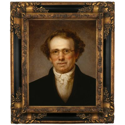 'Portrait of Henry Robinson 1814' Framed Oil Painting Print on Canvas Format: Black Gold Framed, Size: 19.25