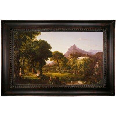 'Dream of Arcadia 1838' Framed Oil Painting Print on Canvas Format: Dark Black Framed, Size: 26