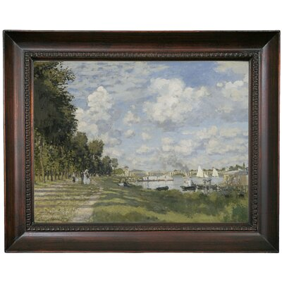 'Bassin d?Argenteuil 1872' by Claude Monet Framed Print on Canvas Format: Brown Frame, Size: 15.5