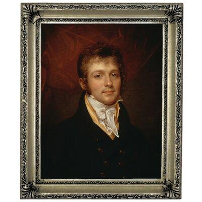 'Portrait of Edward Shippen Burd of Philadelphia 1806' Framed Oil Painting Print on Canvas Format: Silver Framed, Size: 17