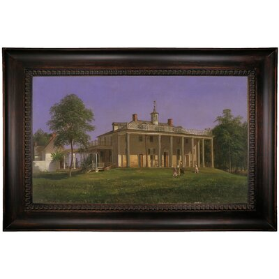 'View of Mount Vernon 1858' Framed Print on Canvas Format: Brown Frame, Size: 15.5