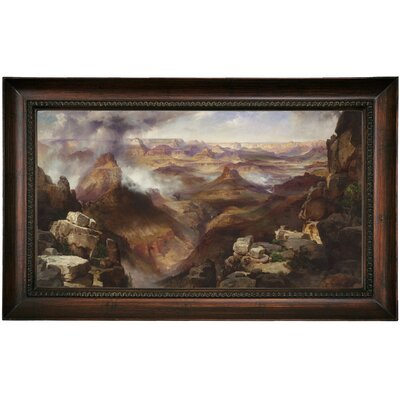 'Grand Canyon of the Colorado River' Framed Oil Painting Print on Canvas Format: Dark Brown Framed, Size: 15.5