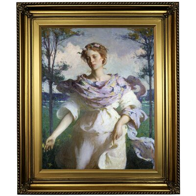'Summer 1890' Framed Oil Painting Print on Canvas Format: Light Gold Framed, Size: 26