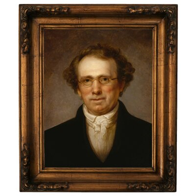'Portrait of Henry Robinson 1814' Framed Oil Painting Print on Canvas Format: Antique Gold Framed, Size: 19.5