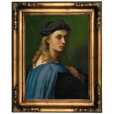 'Portrait of Bindo Altoviti' Framed Oil Painting Print on Canvas Format: Old Gold Framed, Size: 20.5