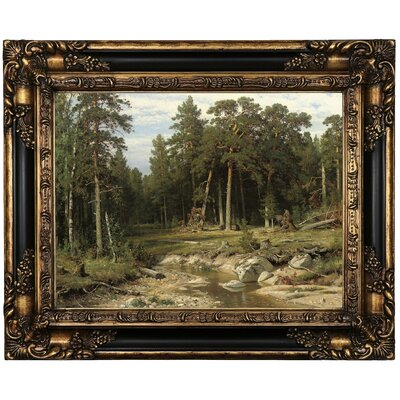 'Mast Pine Forest in Viatka Province 1895' Framed Oil Painting Print on Canvas Format: Black/Bronze Framed, Size: 17.25