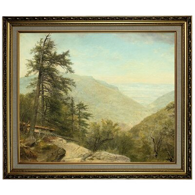 'Kaaterskill Clove 1866' Framed Oil Painting Print on Canvas Format: Light Gold Framed, Size: 24.15