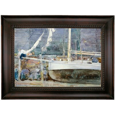 'Drydock; Gloucester' Framed Oil Painting Print on Canvas
