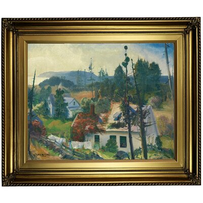 'The Red Vine, Matinicus Island, Maine 1916' Framed Oil Painting Print on Canvas in Gold Format: Light Gold Framed, Size: 22