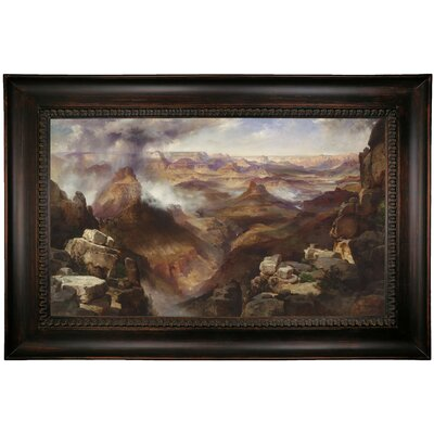 'Grand Canyon of the Colorado River' Framed Oil Painting Print on Canvas Format: Dark Black Framed, Size: 26
