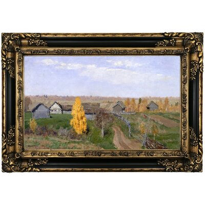'Golden autumn Slobodka 1889' Framed Oil Painting Print on Canvas Format: Black Gold Framed, Size: 17.25