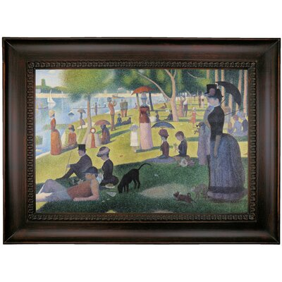 'Sunday afternoon on Sue La Grande Island' Framed Oil Painting Print on Canvas Format: Charcoal Framed, Size: 26