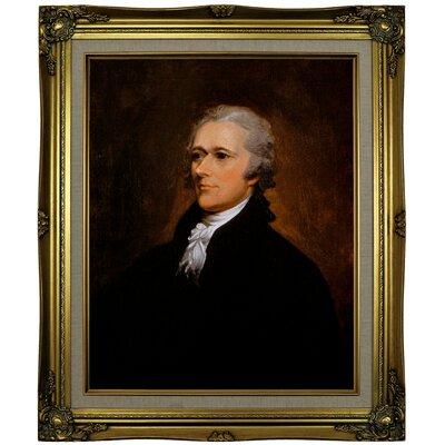 'Alexander Hamilton' Framed Print on Canvas Format: Gold Frame, Size: 25.25