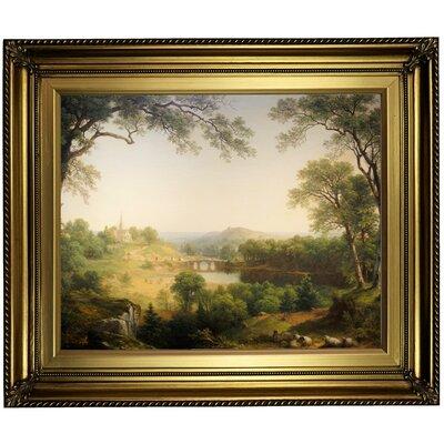 'Sunday Morning 1860' Framed Oil Painting Print on Canvas Format: Light Gold Framed, Size: 22