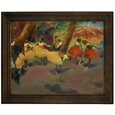 'Before the Performance 1896' by Edgar Degas Framed Print on Canvas Format: Brown Frame, Size: 13.75