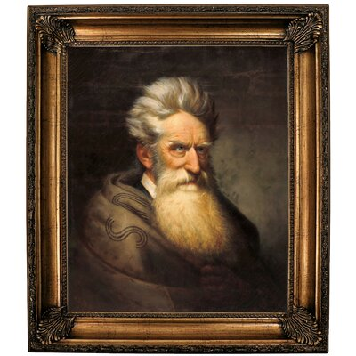 'John Brown 1872' Framed Oil Painting Print on Canvas Format: Brown Framed, Size: 30.25