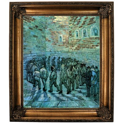 'Prisoners Exercising after Dore' by Vincent van Gogh  Framed Oil Painting Print on Canvas Format: Bronze Framed, Size: 30.25