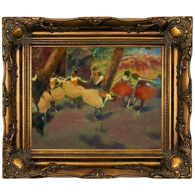 'Before the Performance 1896' by Edgar Degas Framed Print on Canvas Format: Bronze Frame, Size: 16.5