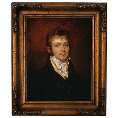 'Portrait of Edward Shippen Burd of Philadelphia 1806' Framed Oil Painting Print on Canvas Format: Antique Gold Framed, Size: 19.5