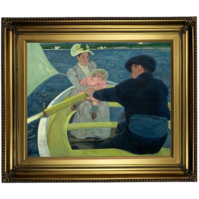 'The Boating Party' by Mary Cassatt Framed Oil Painting Print on Canvas Format: Light Gold Framed, Size: 22