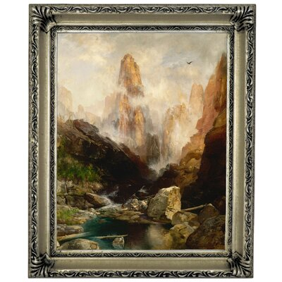 'Mist in Kanab Canyon, Utah' Framed Oil Painting Print on Canvas Format: Silver Framed, Size: 17