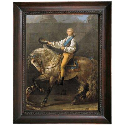 'Equestrian Portrait of Stanislaw Kostka Potocki 1781' Framed Oil Painting Print on Canvas Format: Dark Gray Framed, Size: 19.5