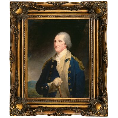 'Portrait of George Washington 1785' Framed Oil Painting Print on Canvas Format: Dark Gold Framed, Size: 19.5